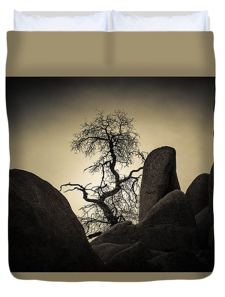 Desert Bonsai Duvet Cover