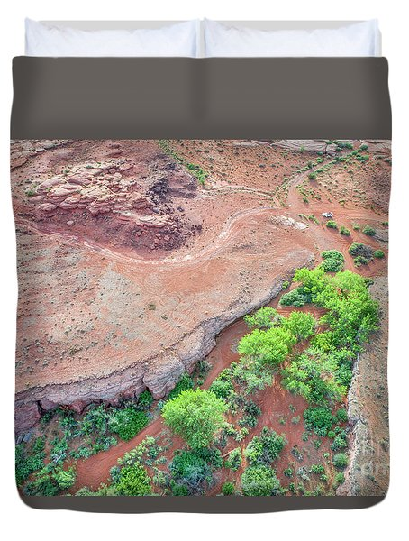desert canyon in Utah aerial view Duvet Cover