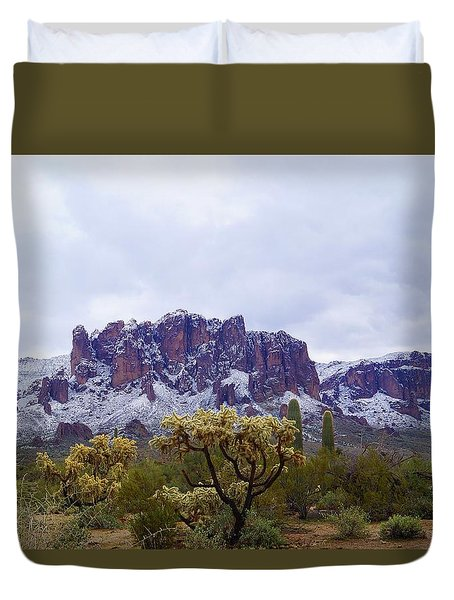 Desert Dusting Duvet Cover
