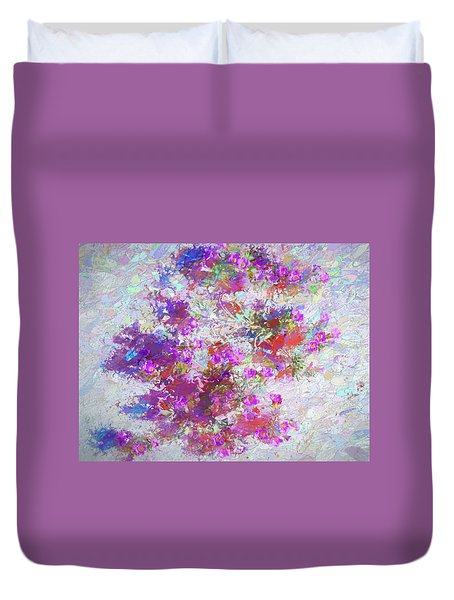 Desert Flowers Abstract 3 Duvet Cover