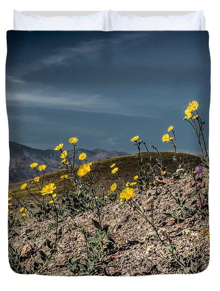 Desert Gold In Death Valley Duvet Cover