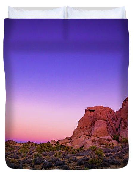 Desert Grape Rock Duvet Cover