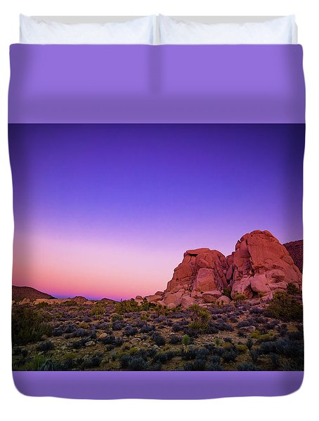 Duvet Cover featuring the photograph Desert Grape Rock by T Brian Jones