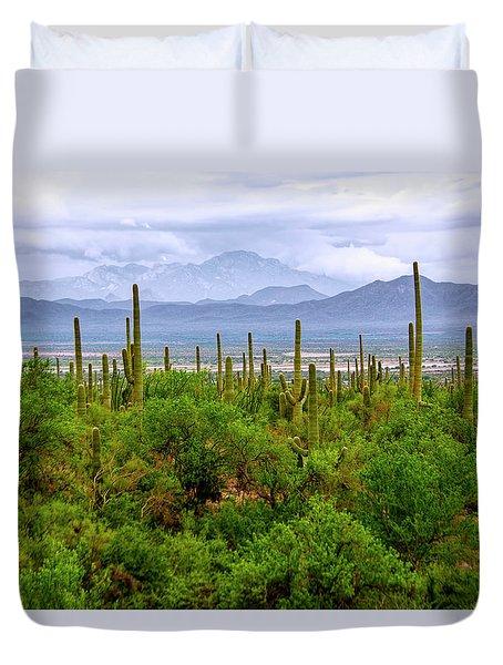 Desert Green Duvet Cover