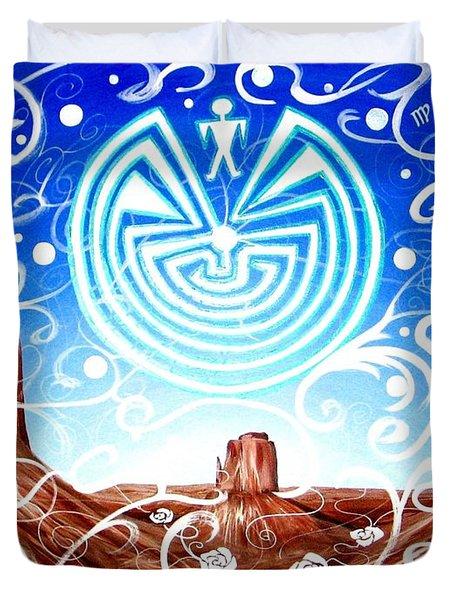 Desert Hallucinogens Duvet Cover
