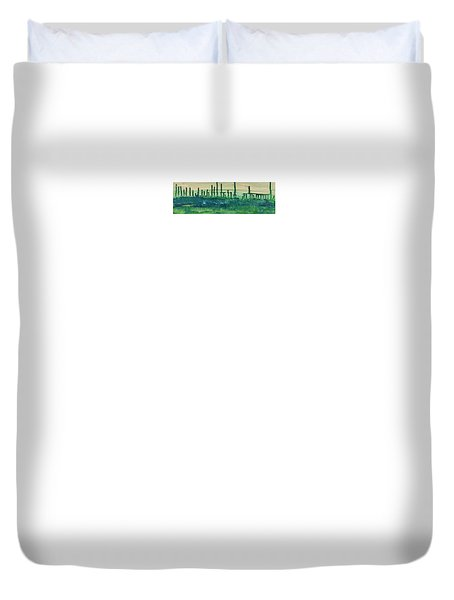 Desert Horizon Vertical Duvet Cover