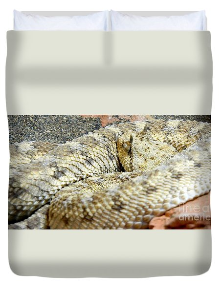 Desert Horned Viper Duvet Cover