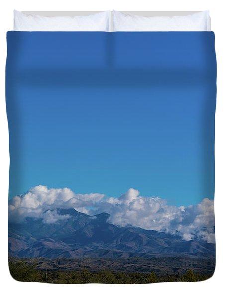 Desert Inversion Cactus Duvet Cover