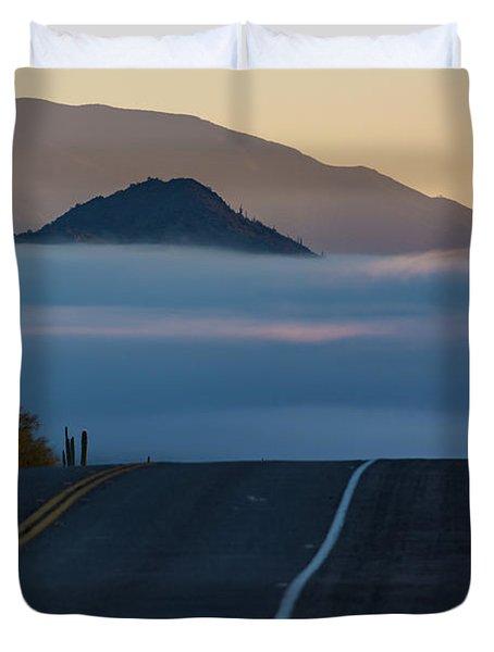 Desert Inversion Highway Duvet Cover
