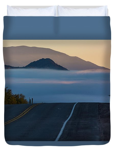 Desert Inversion Highway Duvet Cover
