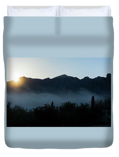 Desert Inversion Sunrise Duvet Cover