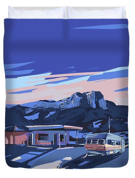 Desert Landscape 2 Duvet Cover by Bekim Art