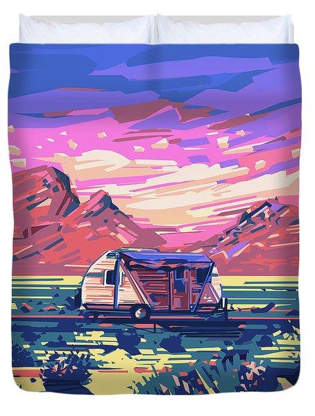 Desert Landscape Duvet Cover by Bekim Art