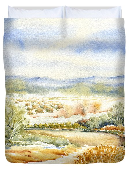 Desert Landscape Watercolor Duvet Cover