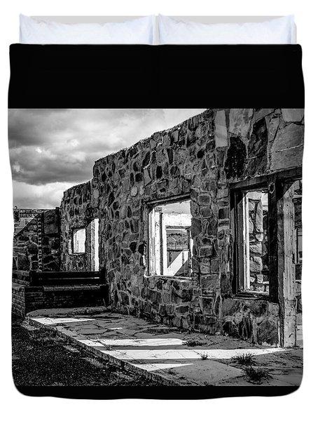 Desert Lodge Bw Duvet Cover