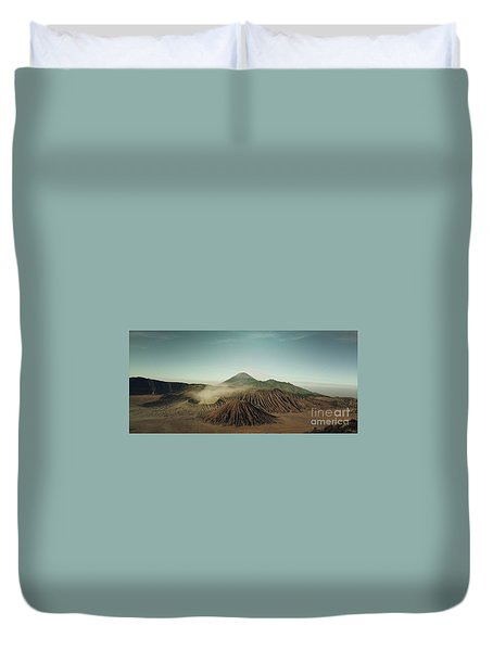 Duvet Cover featuring the photograph Desert Mountain  by MGL Meiklejohn Graphics Licensing