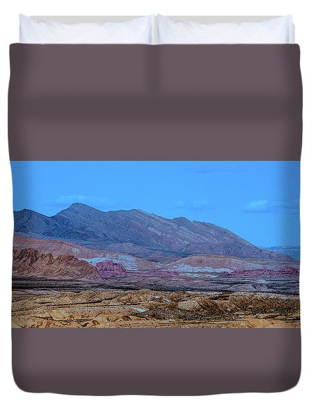 Duvet Cover featuring the photograph Desert Night by Onyonet  Photo Studios