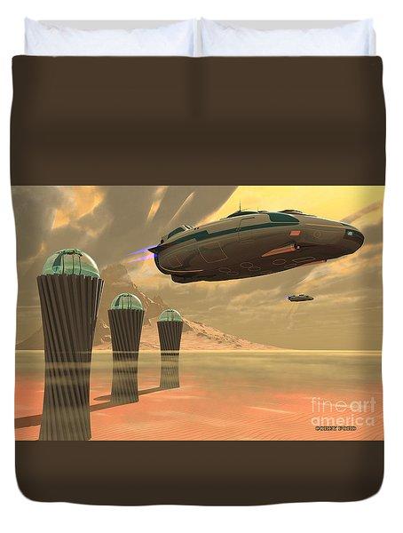 Desert Planet Duvet Cover by Corey Ford