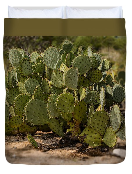 Desert Prickly-pear No6 Duvet Cover