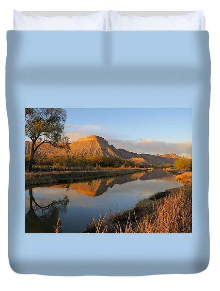 Desert Reflection Duvet Cover