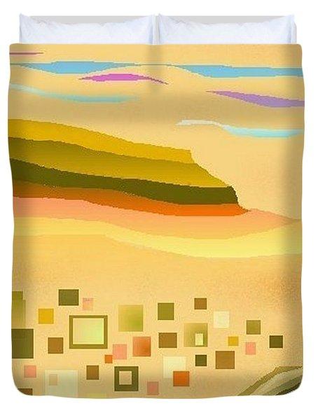Desert River Duvet Cover