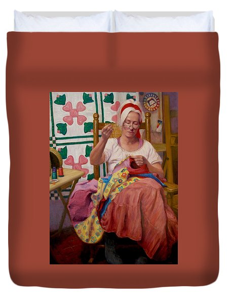 Duvet Cover featuring the painting Desert Rose by Donelli  DiMaria