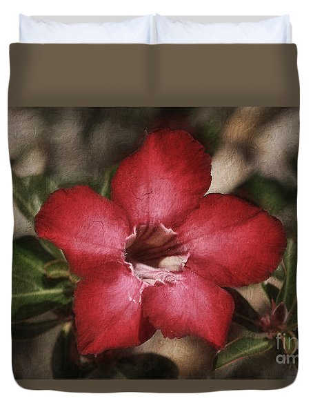 Desert Rose In Daytona Duvet Cover