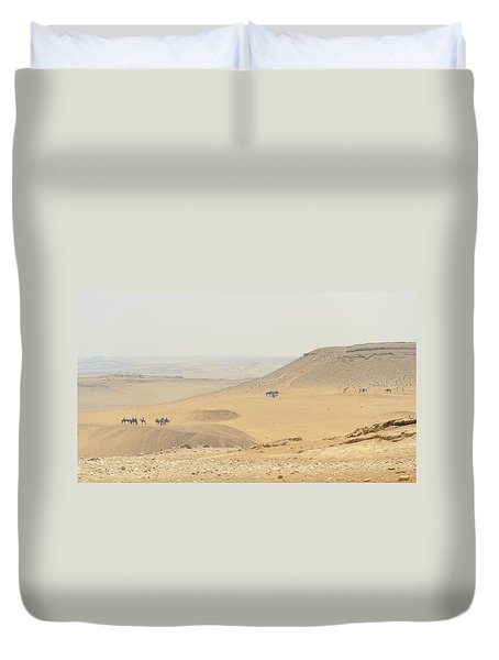 Duvet Cover featuring the photograph Desert by Silvia Bruno