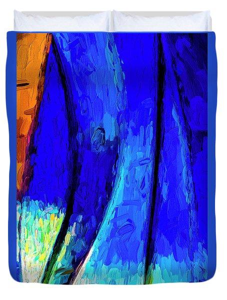 Duvet Cover featuring the photograph Desert Sky 2 by Paul Wear