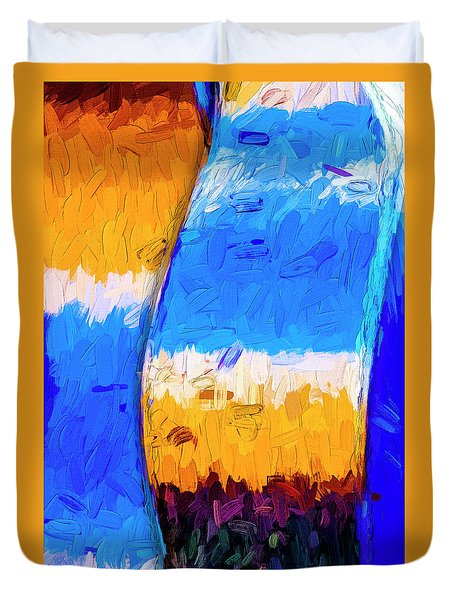 Duvet Cover featuring the photograph Desert Sky 3 by Paul Wear