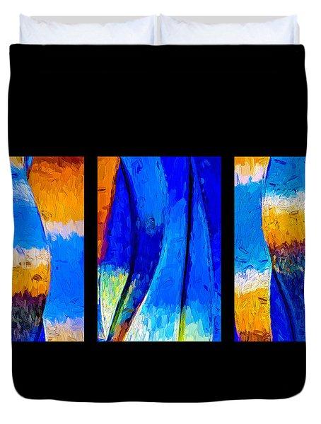 Duvet Cover featuring the photograph Desert Sky by Paul Wear