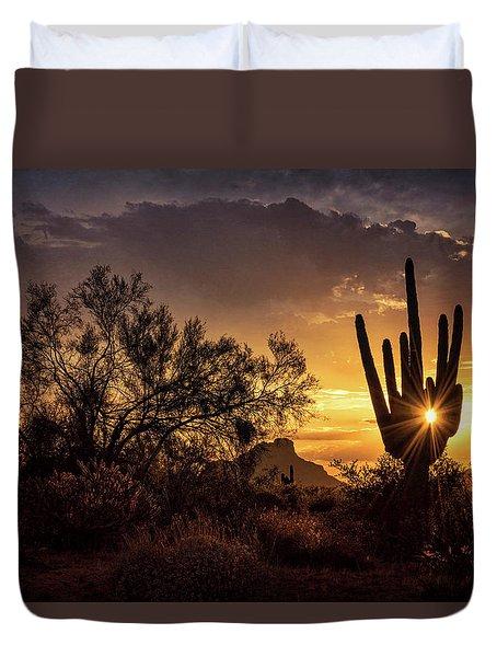 Duvet Cover featuring the photograph Desert Skylight  by Saija Lehtonen