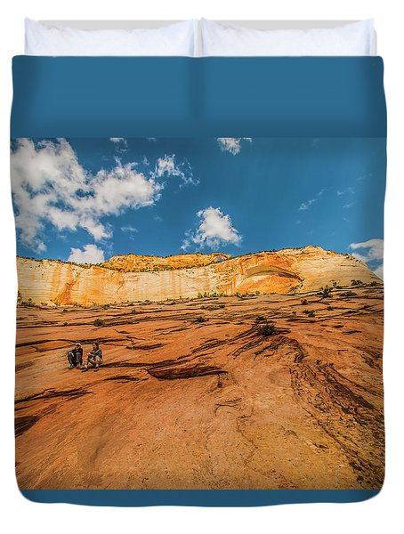Desert Solitaire With A Friend Duvet Cover