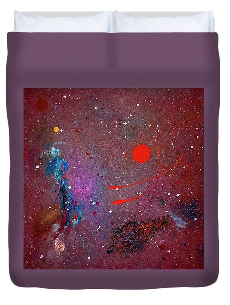Duvet Cover featuring the painting Desert Song by Michael Lucarelli