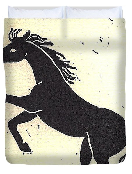 Desert Stallion Duvet Cover