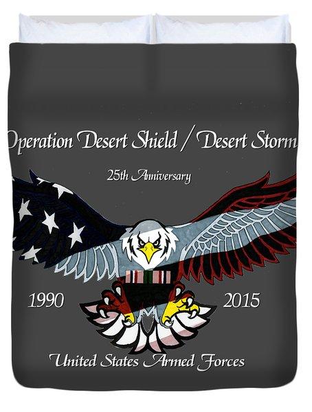 Desert Storm 25th Anniversary Duvet Cover by Bill Richards