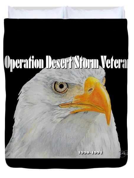 Desert Storm Eagle Duvet Cover by Bill Richards