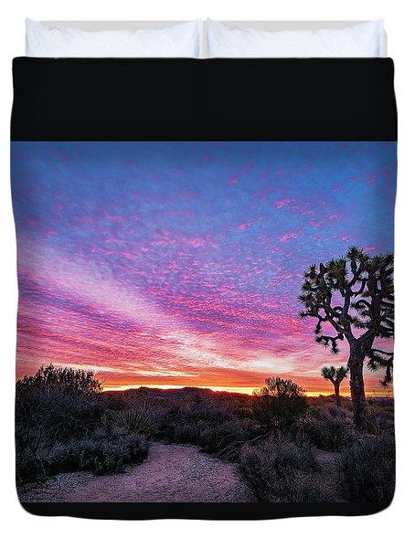 Desert Sunrise At Joshua Tree Duvet Cover
