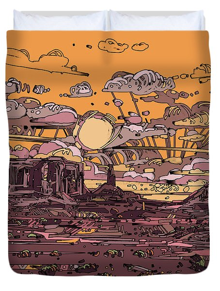 Desert Sunset 2 Duvet Cover