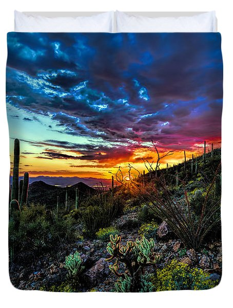 Desert Sunset Hdr 01 Duvet Cover