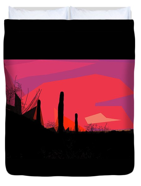 Desert Sunset In Tucson Duvet Cover