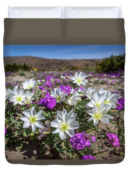 Desert Super Bloom 2017 Duvet Cover by Peter Tellone