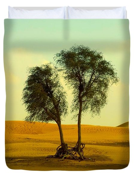 Desert Trees Duvet Cover