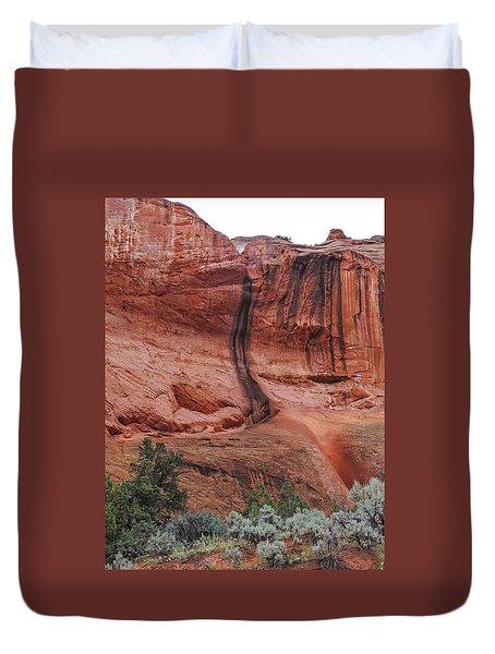 Desert Varnish Along Burr Trail Duvet Cover