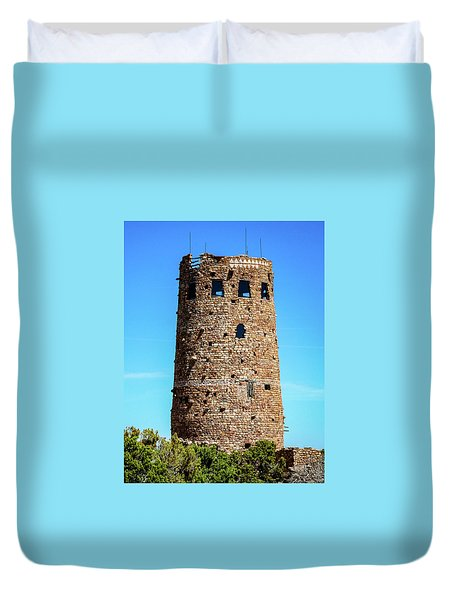 Desert View Watchtower At The Grand Canyon Duvet Cover