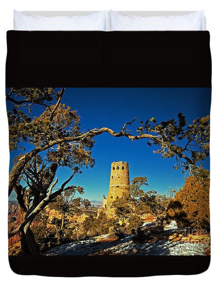 Desert View Watchtower, Grand Canyon National Park, Arizona Duvet Cover