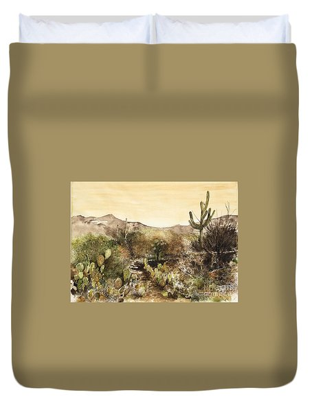 Desert Walk Duvet Cover