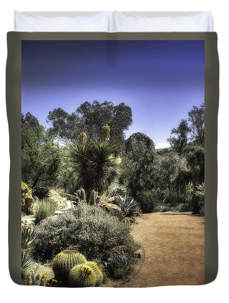 Desert Walkway Duvet Cover by Lynn Geoffroy