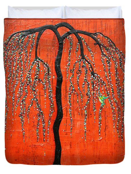 Desert Willow Duvet Cover by Natalie Briney