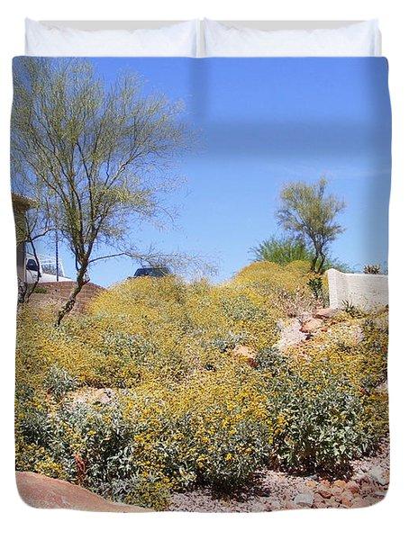 Desert Yard Duvet Cover